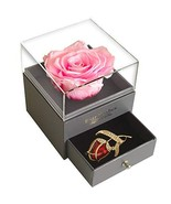 Forever Pink Rose Jewelry Gift Box, Enchanted Real Rose (Pink)valentine... - $38.63