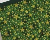 Green Large Christmas Stocking stars pre-finished cross stitch stocking