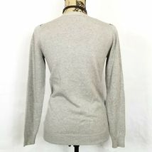 Liz Claiborne NY Gray Purple Pink Argyle Diamond Cardigan Sweater Size XXS image 3