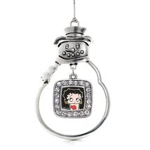 Inspired Silver Betty Boop Classic Snowman Holiday Decoration Christmas Tree Orn - $14.69