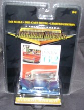 American Muscle Wide-Track Pontiac '62 Catalina Super Duty BLUE 1:64 Die... - $12.96