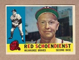 1960 Topps #335 Red Schoendienst Milwaukee Braves Near Mint condition - $10.68