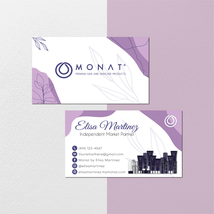 Monat Business Card, Watercolor Personalized Monat Business Cards, Monat... - $9.99