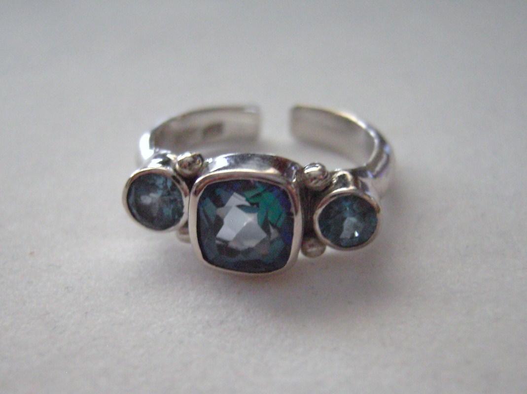 sajen ring sterling silver neptune topaz and blue topaz. Black Bedroom Furniture Sets. Home Design Ideas