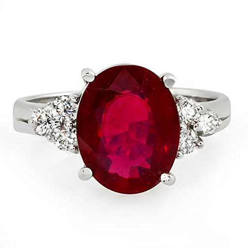 Estate ring 4.5 ct natural ruby and diamond 14k gol