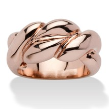PalmBeach Jewelry Braided Ring in Rose Gold-Plated - $27.94