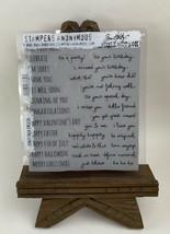 Tim Holtz Cling Rubber Stamps CRAZY TALK CMS236 - $25.69