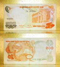 Vietnam 1970 RVN Money 500.00 Dong Banknotes  - $10.88