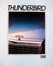 1981 Ford Thunderbird T-Bird Original Sales Brochure 81 - $14.48