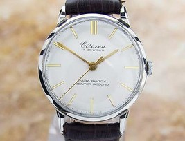 Citizen Parashock Centre Seconds Made in Japan Authentic Watch Circa 195... - $763.42