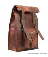 New Men's Women's Leather Backpack Laptop Satchel Travel School Book Bag AU - $60.88