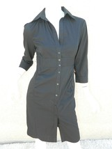 EXPRESS Dress Navy Blue Classic Shirt 3/4 Sleeve Dress Workwear Career Sz 6 image 1