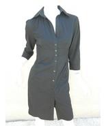 EXPRESS Dress Navy Blue Classic Shirt 3/4 Sleeve Dress Workwear Career Sz 6 - $26.03
