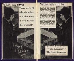 Kotex Women want the genuine Kotex 1929 AD Woman at Drug Store - $9.99