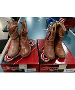 Dingo Women's Twisted Sister Slouch Buffalo Tan DI 682 Boots Harness Cowboy - $69.99+
