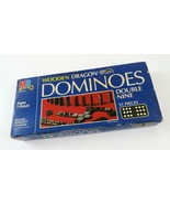 Vintage 1983 Wooden Dragon Dominoes Double Nine Milton Bradley MB (Compl... - £9.35 GBP