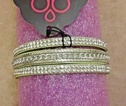 Paparazzi Jewelry - Urban Suede Bracelet - Single Snap - Rhinestones - Green - $7.87