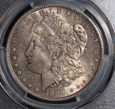 1889 MS 65 Gem Toned PCGS Graded Morgan Silver Dollar - $259.95