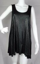 Juicy Couture women's tank dress top metallic black sleeveless rayon size L - $16.77