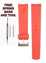 Nautica A12628G 22mm Rouge Diver Rubber Bracelet de Montre Anti Allergique - $24.80