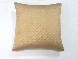 Pottery Barn Pick-Stitch Solid Gold Silk Quilted 20-inch Square Toss Pillow - $48.00