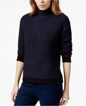 Sanctuary Sweater SZ XL Tanzanite Blue Black Roller Mock Turtleneck Knit... - €32,00 EUR