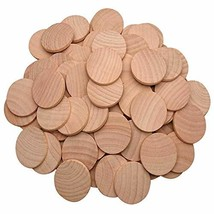 AxeSickle Natural Wood Slices 1.5 inch Unfinished Round Wood 100 pcs The... - $10.82