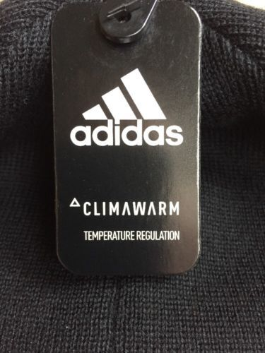 a6cfadbb ADIDAS Beanie HAT Young Men Youth Reversible Climawarm Eclipse Black Blue  NEW