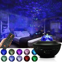 Starry Night Light Projector Sky Galaxy Projector Ocean Wave, Bluetooth ... - $35.99