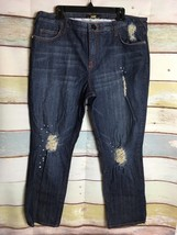 Baby Phat  Embellished distressed Jeans Womens Size 20 Red Stitching - $23.50