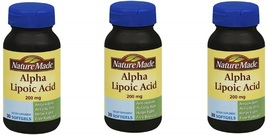 Nature Made Alpha Lipoic Acid 200 Mg (Pack of 3) - $142.66