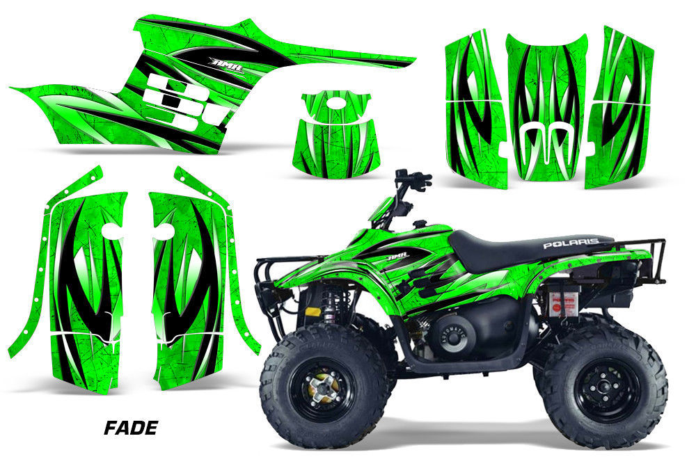 ATV Graphics Kit Decal Sticker Wrap For Polaris Trail Boss 330 04-09 FADE GREEN