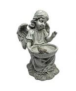ANGEL CHERUB STATUE BIRD BATH FEEDER Sculpture Porch Patio Pool Balcony ... - £39.06 GBP