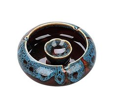 Simple Continental Ashtrays Home Office Decoration Ashtrays, Sapphire BLUE - $23.04