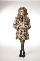 Lynx Fur Coat Hooded Sectional image 7