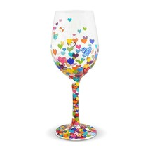 "Hearts a Million ""Designs by Lolita"" Wine Glass 15 o.z. 9"" High  Gift Boxed image 2"