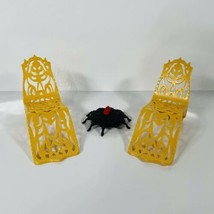 Monster High Gold Beach Lounge Chair Lot Of 2 Desert Frights Oasis 13 Wishes - $9.87
