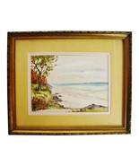 Vintage Framed Seascape Watercolor Painting - Artist Signed - $195.00