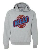 Billy Beer Hoodie retro vintage style distressed print grey graphic tee shirt image 1