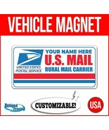 US MAIL RURAL CARRIER CUSTOM NAME Heavy Duty Vehicle Magnet Truck Car De... - $17.09+