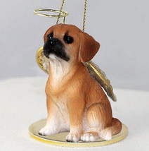 PUGGLE ANGEL DOG CHRISTMAS ORNAMENT HOLIDAY Figurine Statue - $12.38