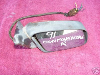 91 Continental Right Side Power Mirror