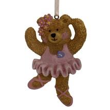 Kurt Adler Ballerina Teddy Bear Dancer Hanging Ornament Vtg 1998 - $14.84