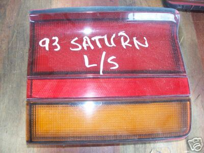 93-96 Saturn S Series Left Side tail light Lid mounted