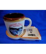 Niagara Falls Sip N Smoke Ashtray and Coffee Mug Cup Vintage Souvenir Co... - $14.95