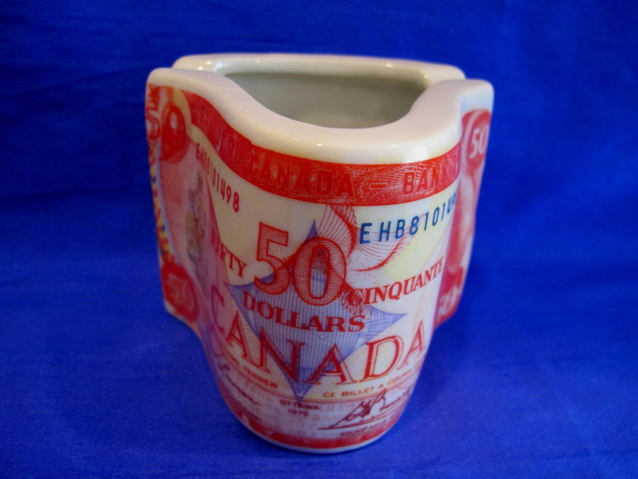 Canadian Fifty Dollars $50.00 Ashtray Vintage Souvenir Collector Bank of Canada
