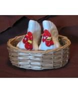 Vintage Hen Chickens on Nest Salt Pepper Shakers  JAPAN - $15.99