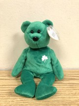 Erin The Irish Bear Original TY Beanie Baby Excellent Condition *MINT TAGS* - $74.95