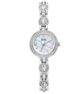 Badgley Mischka Womens Watch BA/1397MPSV  Silver Tone Crystal Wristwatches - $28.49