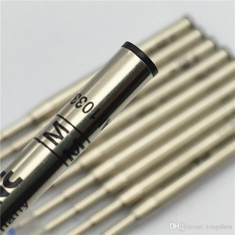 Luxury high quality (6 pieces / lot ) 0.7mm black / blue ink MB pen refill for b